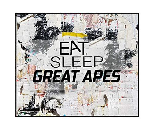 Makoroni - EAT Sleep Great Apes Animal - Jigsaw Puzzle, 30 pcs. (Great Animal Ape)