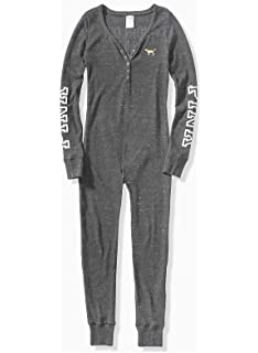 61b160c7b5c7 Amazon.com  Victoria s Secret Long Jane Onesie Pajama   VS Pink ...