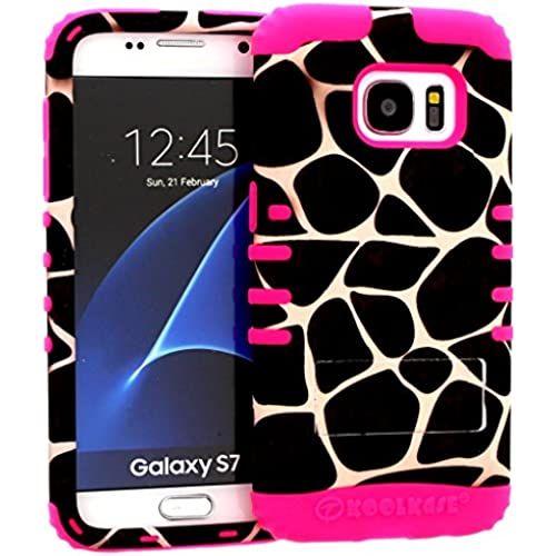 Galaxy S7 Case, Hybrid Heavy Duty Rugged Armor Kickstand Shock Proof Impact Resistant Grip Cover for Samsung Galaxy S7 (Giraffe / Pink) Sales
