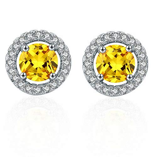 Endicot New Fashion Women Lady Elegant 1Pair Crystal Rhinestone Ear Stud Earrings | Model ERRNGS - 17173 | (Checkered Pyramid Stud)