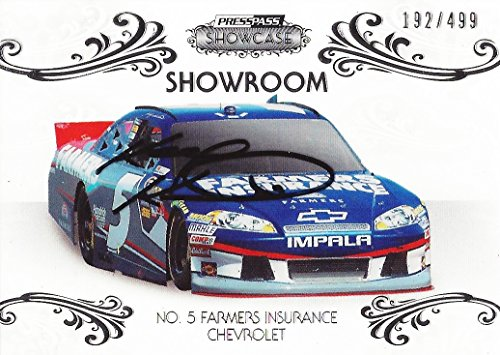AUTOGRAPHED Kasey Kahne 2012 Press Pass Showcase Racing SHOWROOM (#5 Farmer's Insurance Team) Signed Collectible NASCAR Insert Trading Card with COA (#192/499)
