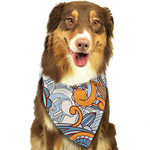 Pet Scarf Paisley Pattern Triangle Bibs Bandanas Kerchief Set Pets Costume Accessories for Small Medium Large Dogs Cats ()