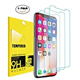 iPhone X Screen Protector (3-Pack), TEIROO Tempered Ballistic Glass Screen Protector Compatible iPhone X/iPhone 10 2017 [Case Friendly] [Easy Install] [3D Touch] [Ultra Clear] [Shatter Proof]