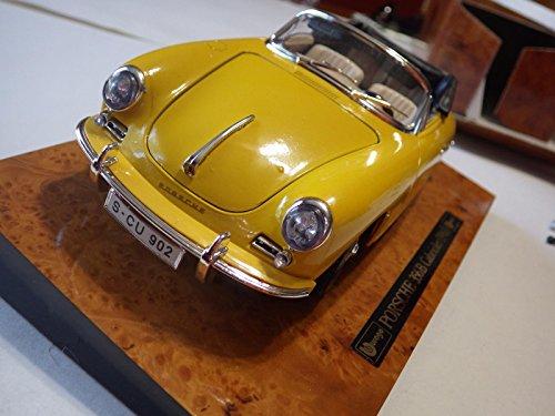 Burago (Italy) Yellow Porsche 356B Cabriolet 1961 Diecast 1:18 NIB ()