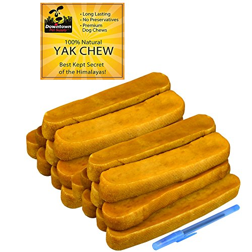 Downtown Pet Supply Himalayan Yak Dog Chew, 100% Natural Dog Chews for Small, Medium, and Large Dogs: Mixed Packs, Variety of Sizes (10 lb) from Downtown Pet Supply
