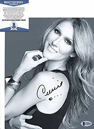 Celine Dion Legendary Singer Signed Autograph 8x10 Photo Beckett BAS COA #1