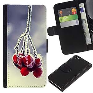JackGot ( Pianta Natura Forrest Fiore 84 ) Apple (4.7 inches!!!) iPhone 6 / 6S la tarjeta de Crédito Slots PU Funda de cuero Monedero caso cubierta de piel