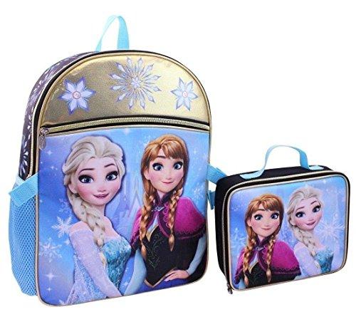Frozen Elsa Anna School Backpack Lunch Box Book Bag Combo SET -