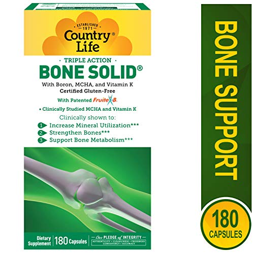 Country Life - Triple-Action Bone Solid - 180 Capsules