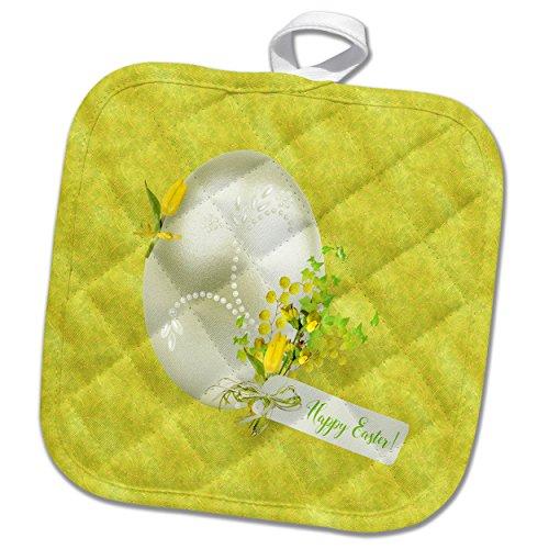 3dRose Beverly espátula de diseño y fotografía–Huevo De Pascua decorado de Pascua con tulipanes y diseño de perlas,...