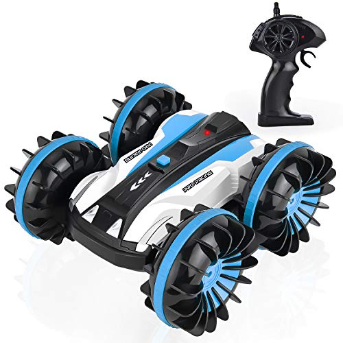 (GotechoD Waterproof RC Cars for Kids Remote Control Car Boat Amphibious Stunt Car Remote Control Truck RC Monster Truck High Speed Radio Controlled Car 4WD Toys 5-16 Year Old Boys Girls Birthday Gift)