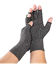 قفاز علاجي ضاغط رقم 1 من روليكساسي، دعامة معصم مضادة لالتهاب المفاصل والروماتيزم الصحية لتخفيف آلام اليد - رمادي مقاس كبير