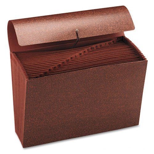 Smead : Hvy-Duty A-Z Expanding File, 21 Pocket, Legal, Leather-Like Redrope -:- Sold as 2 Packs of - 1 - / - Total of 2 Each