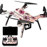 MightySkins Protective Vinyl Skin Decal for 3DR Solo Drone Quadcopter wrap cover sticker skins Cherry Blossom