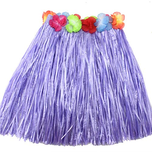 Girls Dress Up - 2019 9 Colors Plastic Fibers Kid Grass Skirts Hula Skirt Hawaiian Costumes 40cm Girl Dress Up - Magnet Puzzle Clothes Accessories Little Boys Occupation Goose Women Coat Gloves