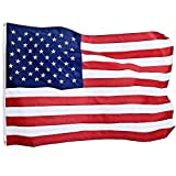 Jetlifee American Flag 4X6 Ft by U.S. Veterans Owned Biz. Heavyweight Nylon Embroidered Stars Sewn Stripes and Brass Grommets US Flag. All Weather Outdoors Indoors USA Flag 4 X 6 Foot