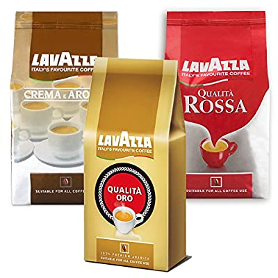 Lavazza, Whole Beans, Big Tasting Set, Coffee, Coffee Beans, 3 x 1000 gr