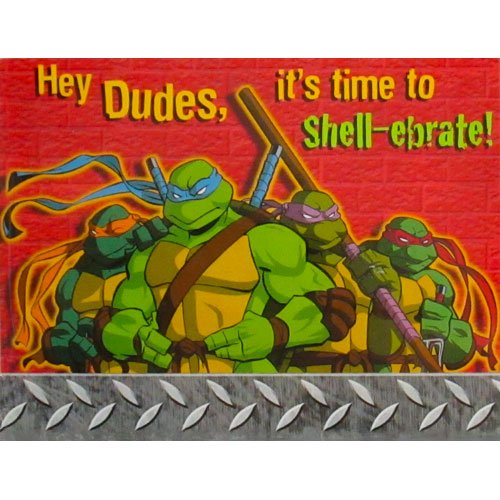 Ninja Turtle Birthday Invitations Amazon Com