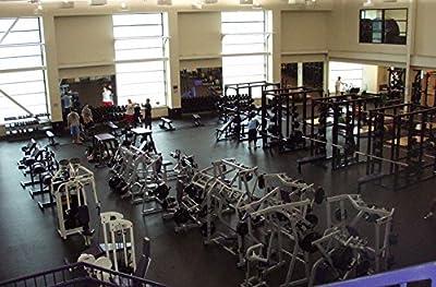 IncStores 8mm Pre-Cut Rubber Gym Flooring Rolls Non-Slip Equipment & Protective Flooring