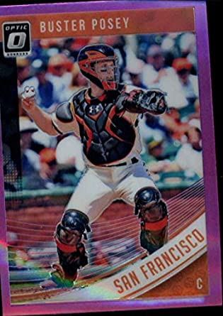 f247a0ae3b9 Amazon.com  2018 Donruss Optic Pink  133 Buster Posey Giants ...