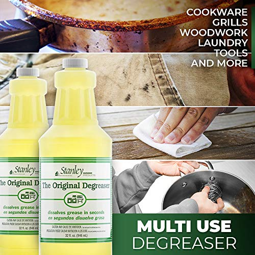 Stanley Home Products Original Degreaser - Removes Stubborn Grease & Grime - Powerful Multipurpose Cleaning Solution for Home & Commercial Use (4 Pack) by STANLEY HOME PRODUCTS (Image #6)