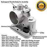 For Dodge Avenger Caliber Journey Chrysler 200 Sebring Jeep Cherokee Compass Patriot Electronic Throttle Body Assembly with IAC TPS Idle Air Control OE # 04891735AC 4891735AB 4891735AC 4891735AD