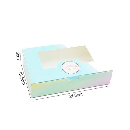Caja de papel de regalo con ventana para cumpleaños, boda ...