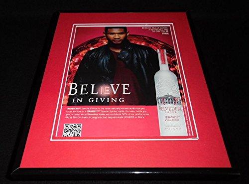 Usher 2011 Belvedere Vodka Framed 11x14 ORIGINAL Vintage - 2011 Usher