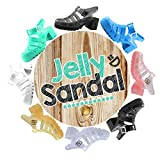 retro jelly sandals for women - Nature Breeze CK92 Women Jelly Round Toe Strappy Caged Gladiator Chunky Heel Sandal - Black (Size: 6.0)