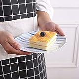VEWEET 4-Piece Porcelain Dessert Plate Set, Durable Ivory White Bread 7-1/2 Inch Salad Plates JOYCE Series