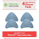 4 Highly Durable Washable & Reusable Steam Pads for Hoover WH20200, WH20300 Steam Mops; Compare to Hoover Part No. WH01000; Designed & Engineered by Think Crucial
