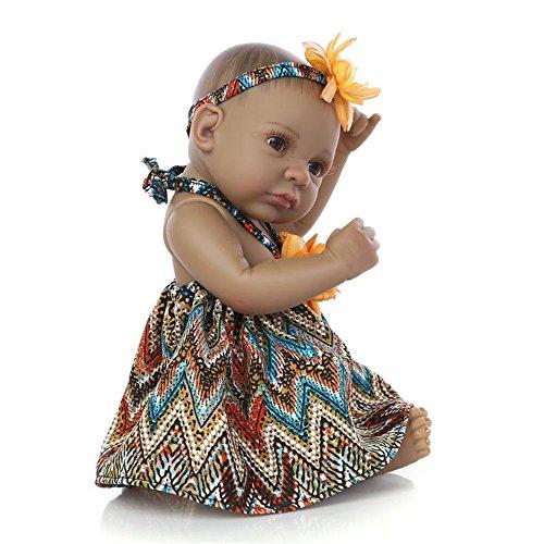 Search : Fan Moon Reborn Baby Doll Mini Black Alive Silicone Full Body African American Girl 11 Inch