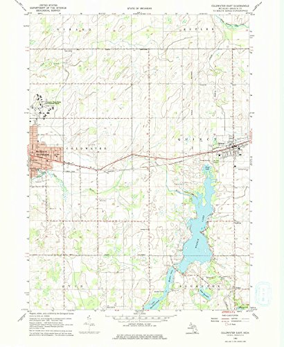YellowMaps Coldwater East MI topo map, 1:24000 Scale, 7.5 X 7.5 Minute, Historical, 1960, Updated 1976, 26.8 x 22 in - Polypropylene