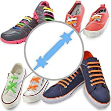 SILICONE LACES - Elastic No Tie Shoelaces with Special Design to Easy Pull & Lock - Perfect for Toddler, Pre School, Dyspraxic Kid or Arthritis Senior Citizen Adult - Waterproof & Super Easy To Clean