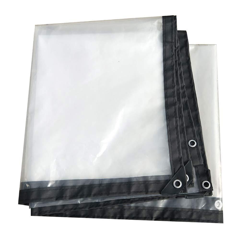 WCS Transparente verdickte Einfassung perforierte wasserdichte und wasserdichte Kunststoffplatte Fenster Balkon Blaume Ernte Gewächshaus Film (125G   M2) erhältlich in einer Vielzahl von Größen Zelt-Kl