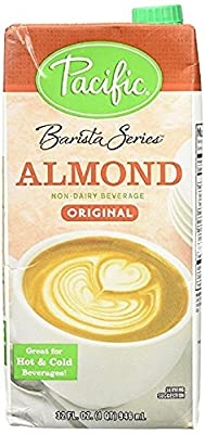 Pacific Barista Series Original Almond Beverage 32 Oz - Pack of 6 by Pacific Foods or Oregon