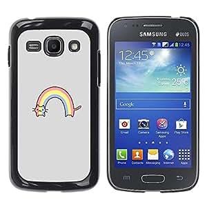 Be Good Phone Accessory // Dura Cáscara cubierta Protectora Caso Carcasa Funda de Protección para Samsung Galaxy Ace 3 GT-S7270 GT-S7275 GT-S7272 // Rainbow Gray Cartoon Funny