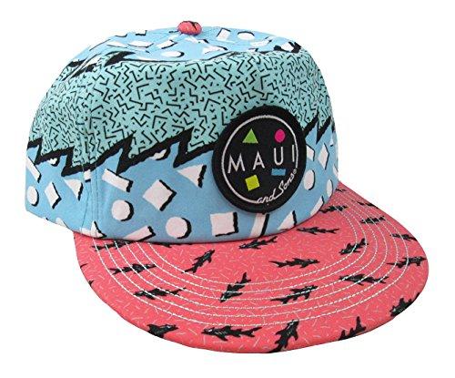 Maui & Sons Men's Sup Brah Flip up Snapback Hat (Blue, One Size) by Maui & Sons