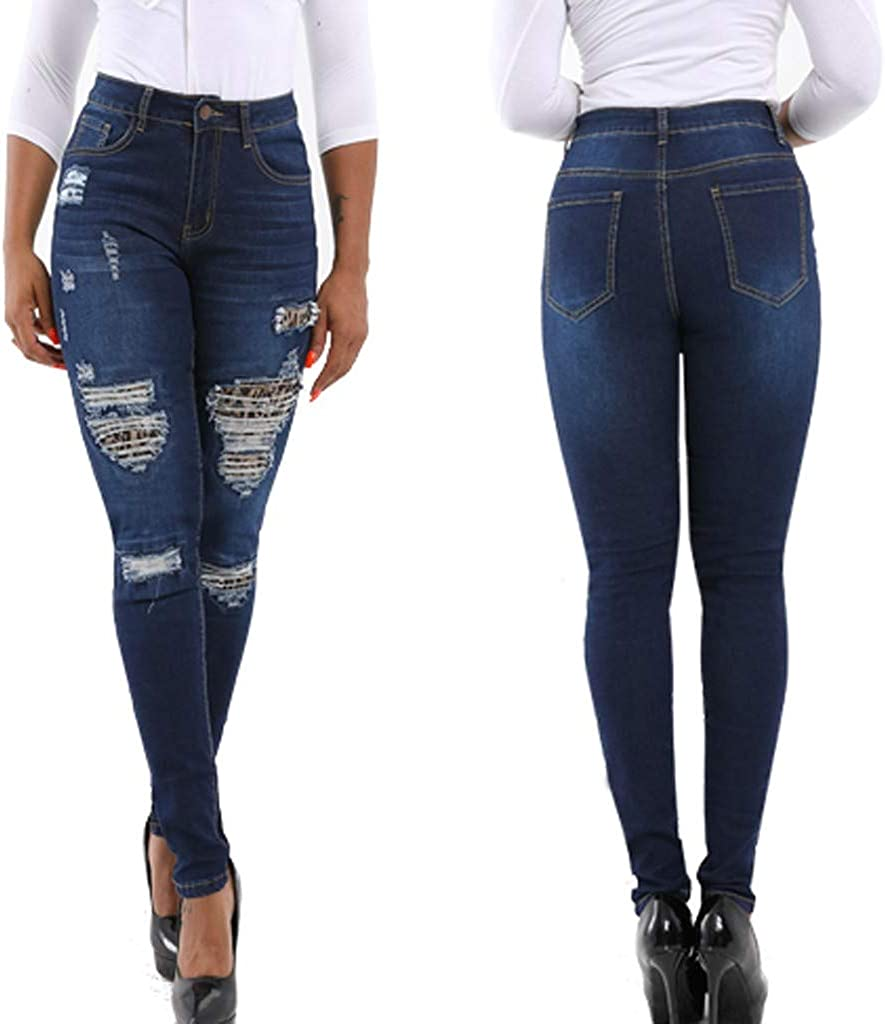 Women/'s High Waist Skinny Jean Demin Jeggings Stretch Trousers Lady Pencil Pants