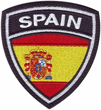MAREL Patch Flag Bandera España (Spain) Parche termoadhesivo Embroidery Bordado cm 6,5 x 5,5: Amazon.es: Hogar