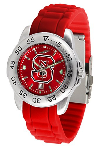 Linkswalker Mens North Carolina State Wolfpack Sport Ac Anochrome Watch