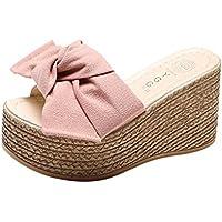 Goodtrade8® Clearance! Hot Sale! ❤ Universal Bohemia Bowtie Espadrille Platform Sandal for Women