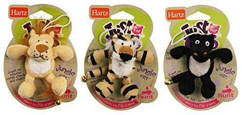 Image Hartz Jungle Cats Cat Toy with Catnip, Assorted
