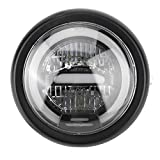 LED Headlamp, 6.5inches LED Headlamp for Vintage Motorcycle Light Refit High Low Beam (Yelloe)
