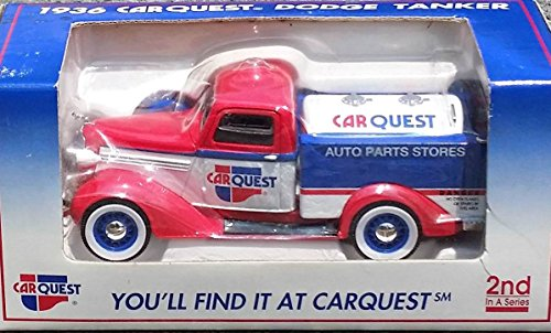 (Liberty Classics CAR QUEST Auto Parts Stores 1936 Dodge Tanker Truck #2 Bank in 1:25 Scale Diecast Metal)