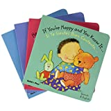 Childrens Factory SSBI4 Baby Board Book Set, English and Spanish Language, 6.2