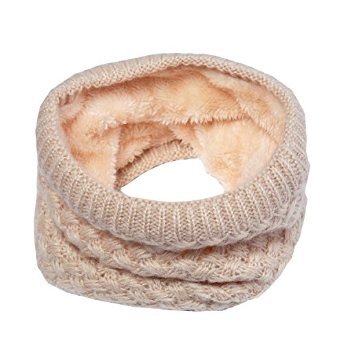 carf Circle Loop Knit Neck Warmer Winter Warm Scarf Neck Gaiter, Beige …Imitated Silk Fabric Shawl Sunscreen Scarves Shawls Navy ()