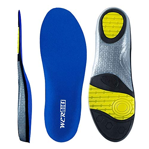 wernies Running Shoes Inserts for Men Women, Athletic Neutral Arch Comfort Insole Size XXL Blue ...