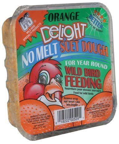 C&S 12529 Orange Delight Suet, 11.75-Ounce - Orange Suet Dough