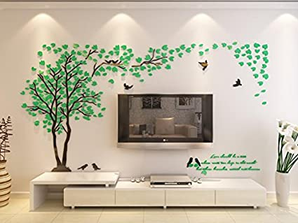 3d Couple Tree Wall Murals For Living Room Bedroom Sofa Backdrop Tv Wall  Background, Originality
